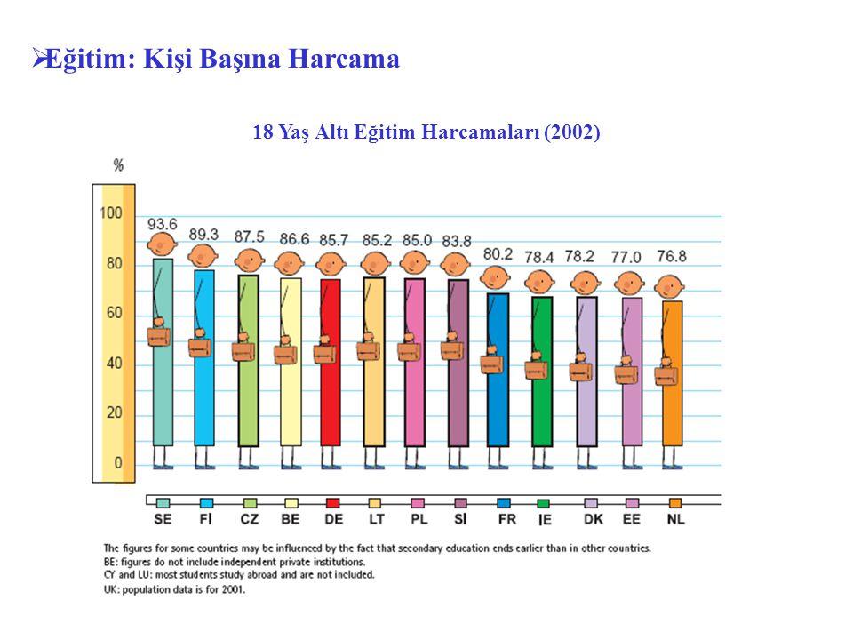18 Yaş Altı Eğitim Harcamaları (2002)  Eğitim: Kişi Başına Harcama