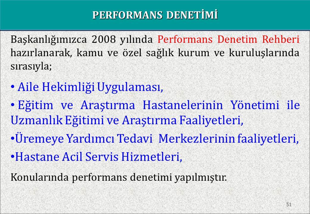 Performans Denetimi; Bir program, proje veya faaliyetin uygulanması sırasında kullanılan kaynakların  VERİMLİ,  ETKİN ve  TUTUMLU (EKONOMİK) Kullanılıp kullanılmadığının denetlenmesidir.
