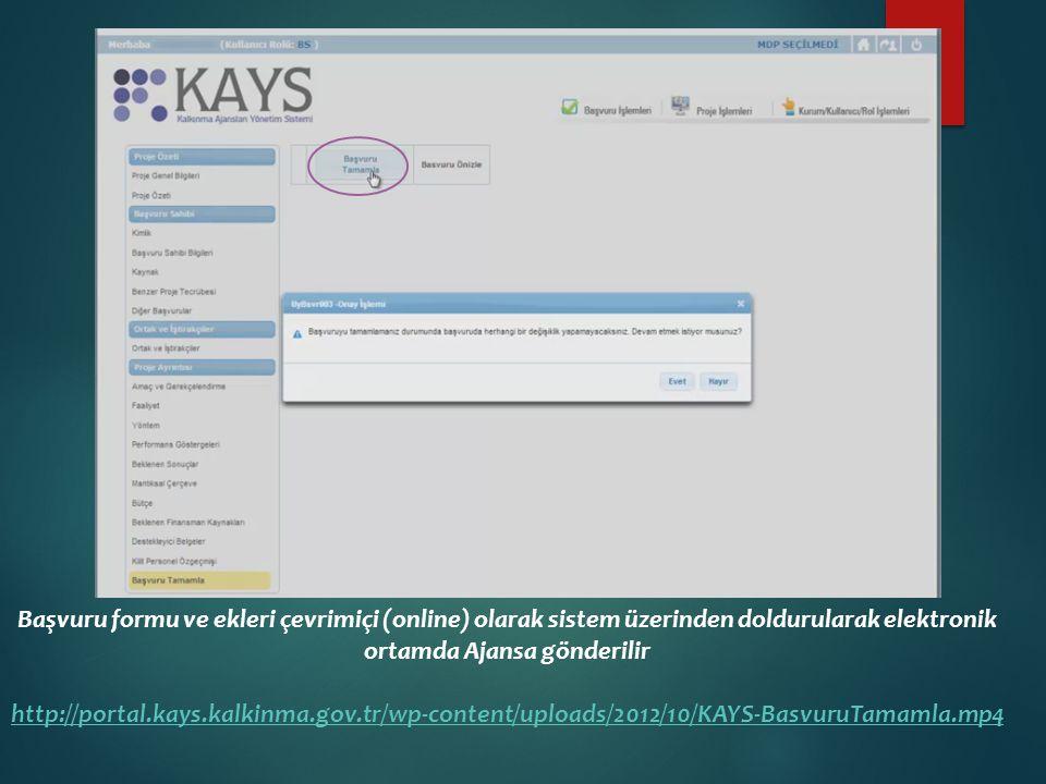 Elektronik ortamda Ajansa gönderilen başvuru belgelerinin sistem üzerinden bilgisayar ortamına indirilerek çıktıları alınır.