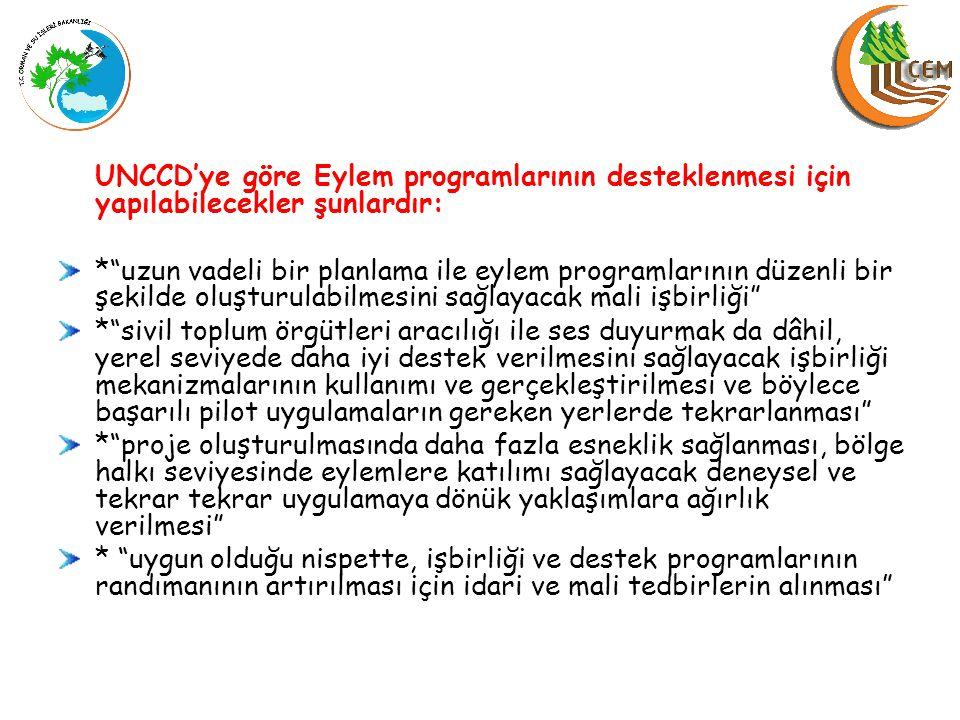 BM Sözleşme Sekreterliği'nin Türkiyedeki Yapısı UNCCD Ulusal Odak Noktası (Orman ve Su İşleri Bakanlığı) Ulusal Koordinasyon Birimi (OSİB, KB, TGHB, DB, MEB, TUBITAK,TİKA, ÇŞB, STK) Bağımsız Uzmanlar Grubu