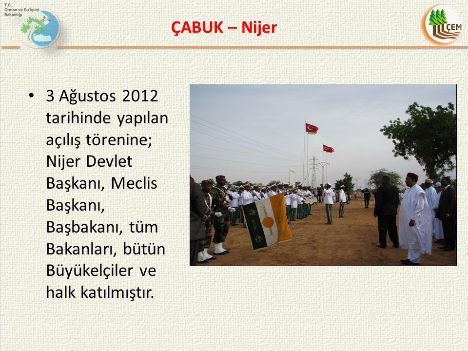 3 Ağustos 2012 tarihinde yapılan açılış törenine; Nijer Devlet Başkanı, Meclis Başkanı, Başbakanı, tüm Bakanları, bütün Büyükelçiler ve halk katılmışt