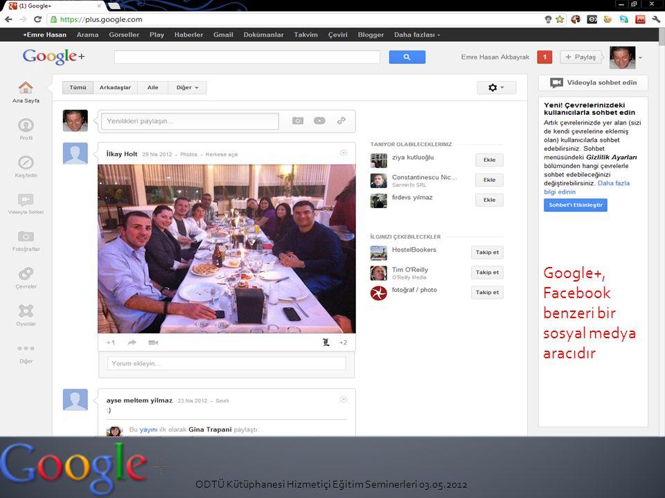 Google+, Facebook benzeri bir sosyal medya aracıdır
