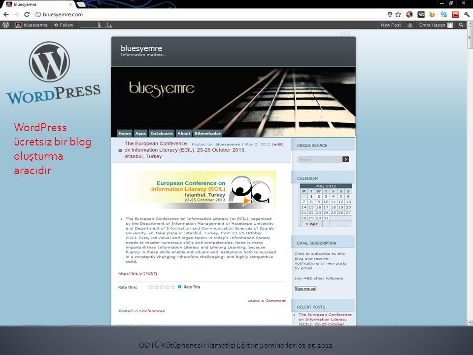 WordPress ücretsiz bir blog oluşturma aracıdır