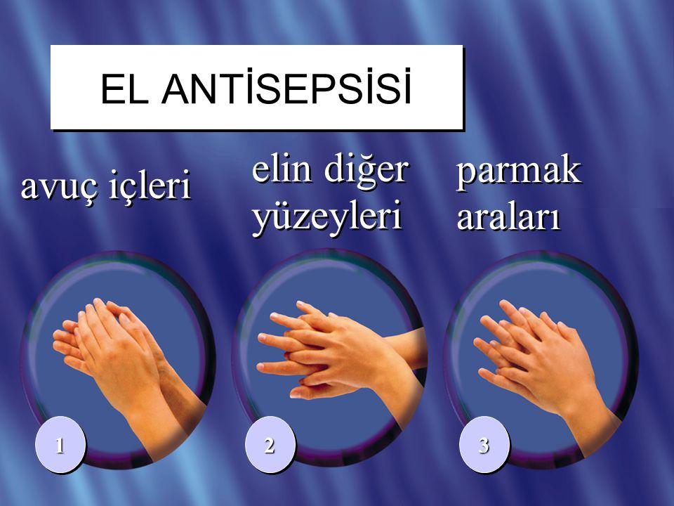 18/41 avuç içleri elin diğer yüzeyleri 112233 parmak araları EL ANTİSEPSİSİ