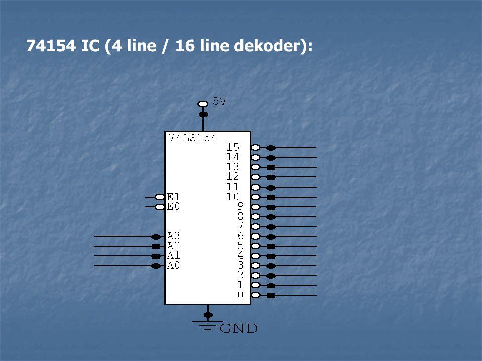 74154 IC (4 line / 16 line dekoder):