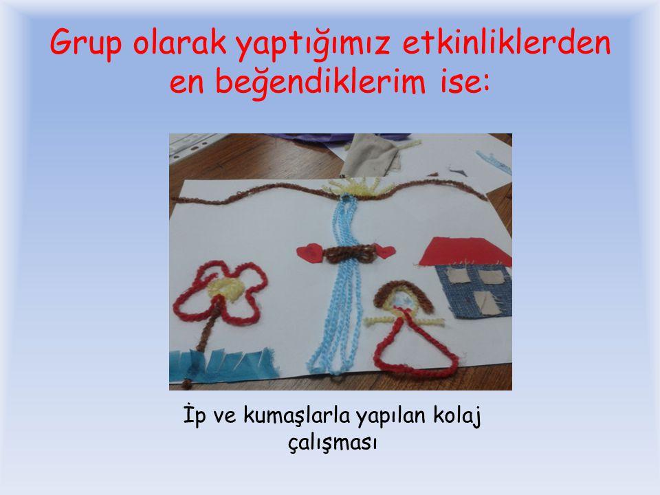 Tel, pamuk, tuvalet kağıdı ile yaptığımız grup ödevi olan kelebeğimiz…