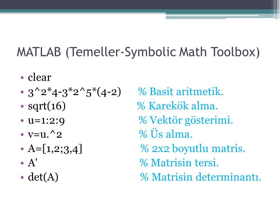 MATLAB (Çizim-Diferansiyel Denklemler) % 3-D parametrik çizim.