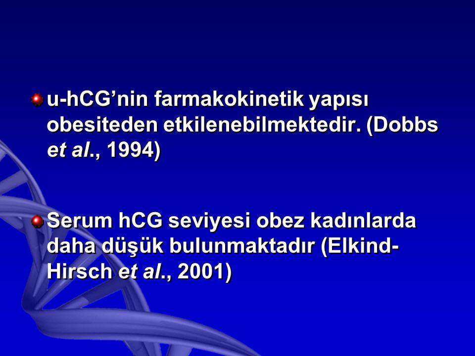 u-hCG'nin farmakokinetik yapısı obesiteden etkilenebilmektedir.