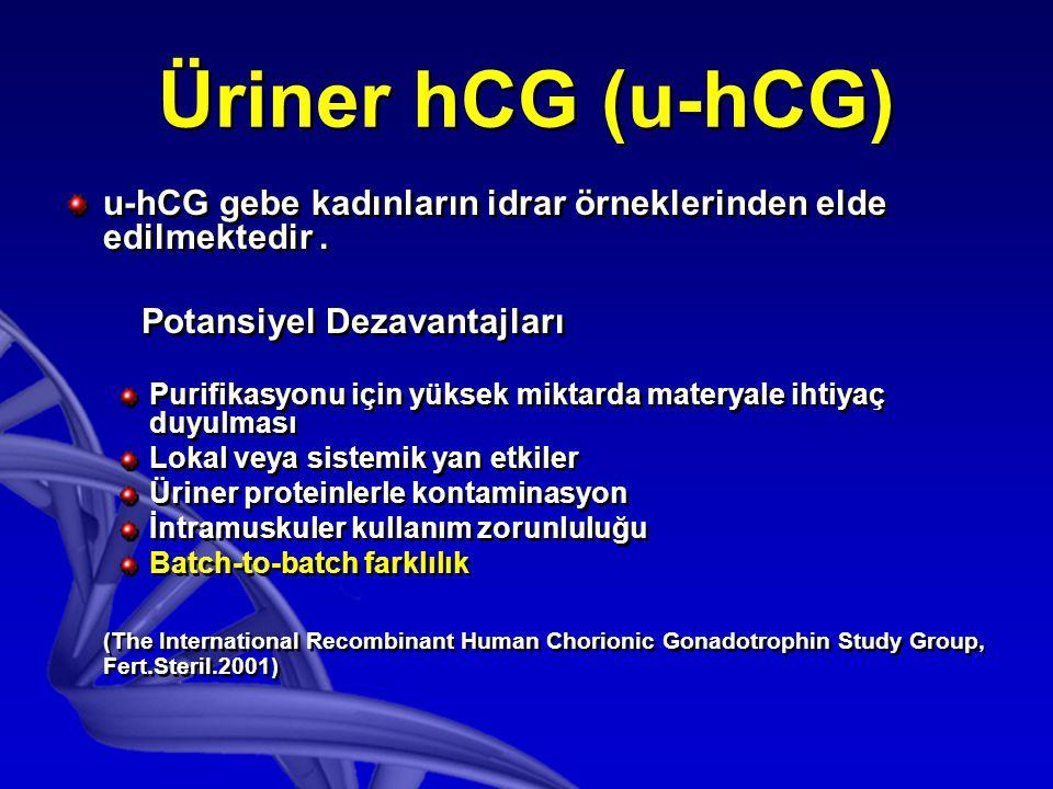 Obez olgularda oosit maturasyonu sağlamak için, 250 μcg r-hCG, 500 μcg r-hCG kadar etkili bulunmuştur.