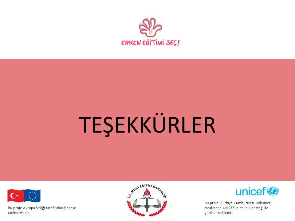 TEŞEKKÜRLER Bu proje Avrupa Birliği tarafından finanse edilmektedir.