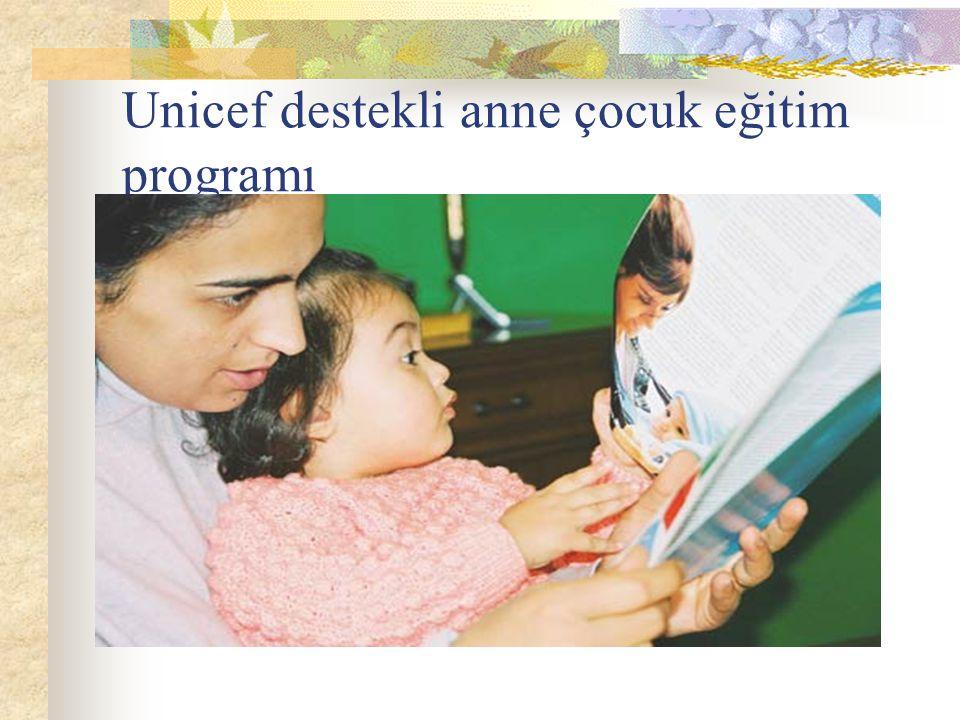 Unicef destekli anne çocuk eğitim programı