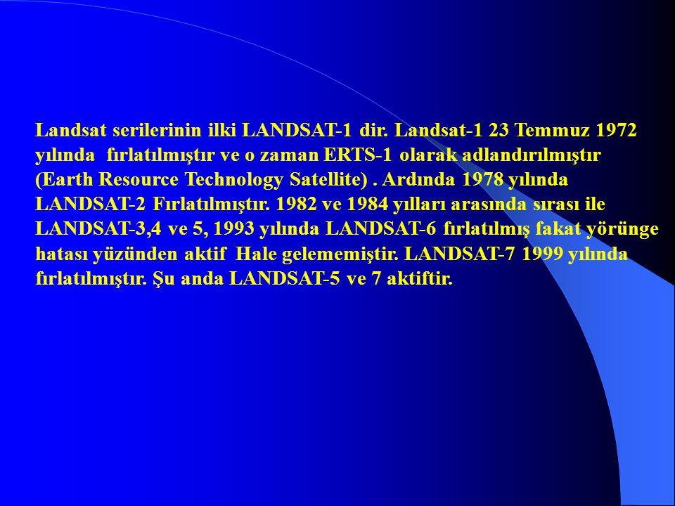 Landsat serilerinin ilki LANDSAT-1 dir. Landsat-1 23 Temmuz 1972 yılında fırlatılmıştır ve o zaman ERTS-1 olarak adlandırılmıştır (Earth Resource Tech