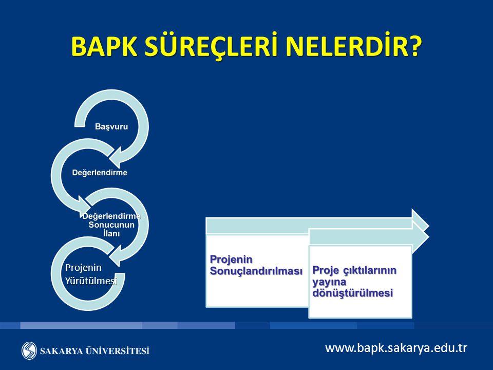 www.bapk.sakarya.edu.tr BAPK SÜREÇLERİ NELERDİR? Projenin Yürütülmesi