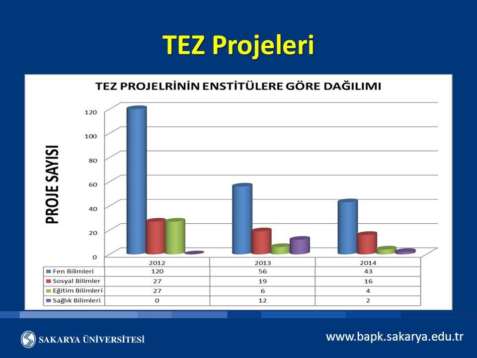 TEZ Projeleri www.bapk.sakarya.edu.tr