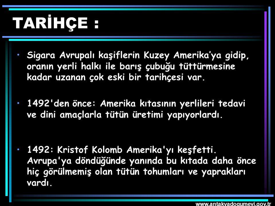 www.antakyadogumevi.gov.tr Sigara Bırakılınca ; 20 dakikaKan basıncı ve nabız sayısı normale döner.
