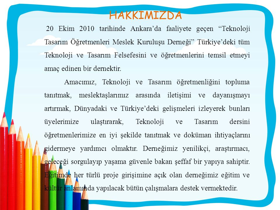 UNESCO SCIENCE REPORT 2010 TURKİYE Innovation has been taught since 2006 in Turkish secondary schools as part of a compulsory course in technology and design, thanks to a private–public partnership entitled Triggering a Cultural Change for Innovation (Project Ekin).