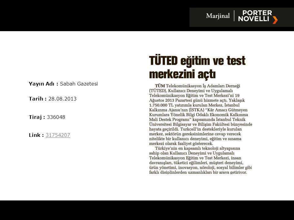 Yayın Adı : Yenigün Gazetesi Tarih : 30.08.2013 Tiraj : 7000 Link : 3181033831810338