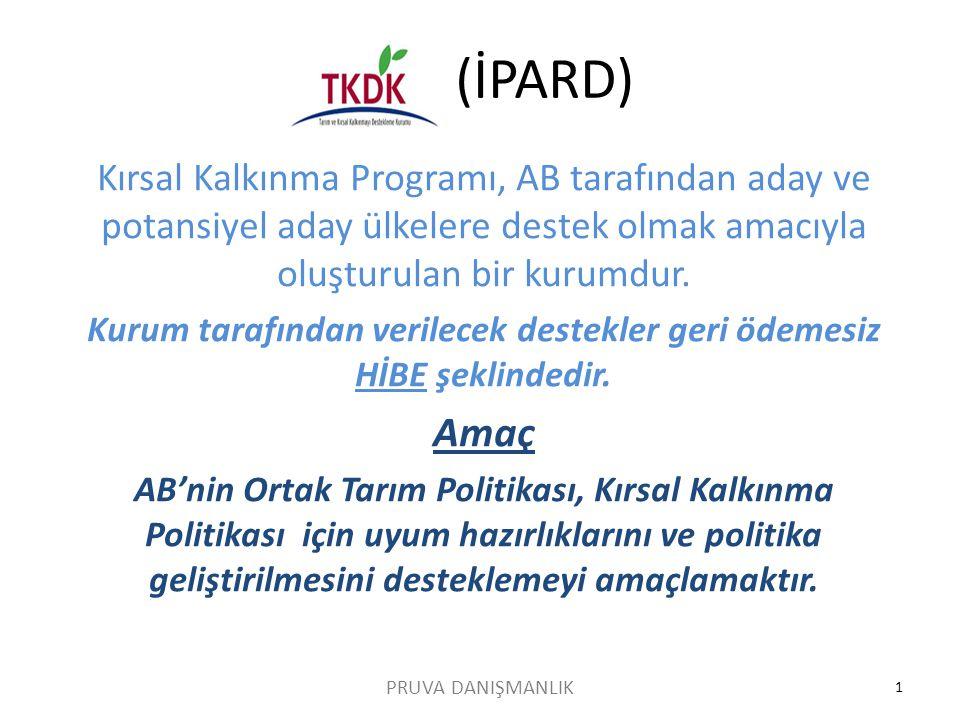 TKDK (İPARD) Kırsal Kalkınma Programı, AB tarafından aday ve potansiyel aday ülkelere destek olmak amacıyla oluşturulan bir kurumdur. Kurum tarafından