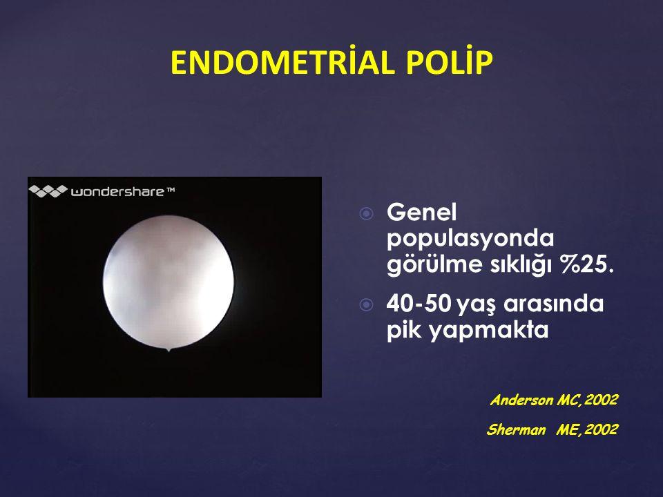  HSG  D&C  Transvaginal USG ve/veya SHS  Histeroskopi ENDOMETRİAL POLİP TANI