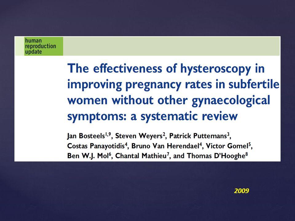 Histeroskopik polipektomi yapılan grupta diagnostik histeroskopi yapılanlara göre anlamlı olarak artmış spontan ve IUI gebelik sonuçları saptanmış.