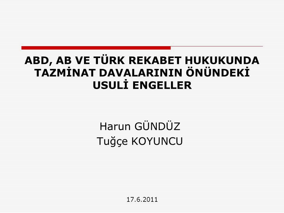 AB ve Türkiye - Toplu Davalar  Olumlu yönleri Maliyetleri düşürmek – Usul ekonomisi Dava açmayı teşvik – Adalete erişim  Olumsuz yönleri Asil-vekil sorunu Dayanaktan yoksun davaları teşvik