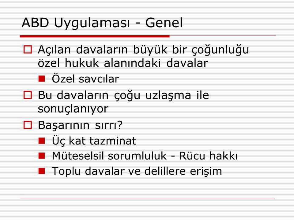 AB ve Türkiye - Toplu Davalar  Yargılama hukukunun temel kavramlarıyla ilişkisi Menfaat (hukuki, meşru, güncel, kişisel)  Hiç kimse, başkasının kişisel menfaatini korumak için dava açamaz  Açılmış bir dava, ancak davacının bu davada doğrudan ve kişisel bir menfaati varsa kabule şayandır Kesin hüküm  Kesin hüküm etkisi, sadece davanın taraflarına ilişkindir Hukuki dinlenilme hakkı  Hakkındaki yargılamaya ilişkin olarak Bilgilenme-açıklama yapma-dikkate alınma