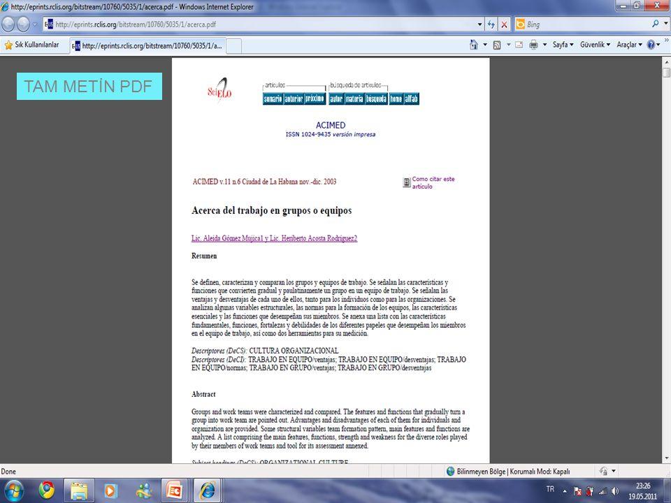 TAM METİN PDF