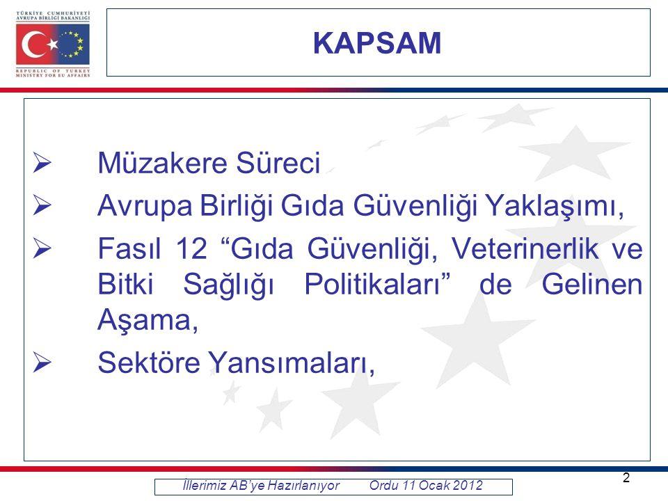 AÇILIŞ KRİTERLERİ VE YAPILAN ÇALIŞMALAR Açılış Kriteri 6 : Türkiye'nin gıda işletmelerinin iyileştirilmesi konusunda geleceğe yönelik Ulusal Program açısından, bütün gıda işletmelerinin AB müktesebatındaki kategorileri esas alan bir sınıflandırmasını Komisyona sunması,  Onaya tabi işletmeler (et, süt, su ürünleri ve hayvansal yan ürün)  Kayıda tabi işletmeler (hayvansal olmayan gıda işleyen tesisler, satış yerleri, toplu tüketim yerleri) Dünya Bankası Projesi I.