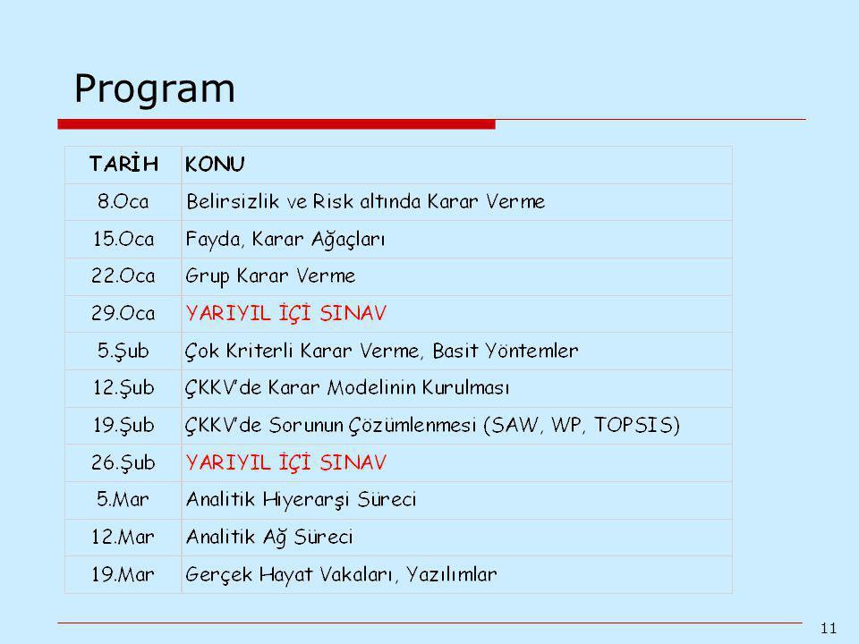 11 Program