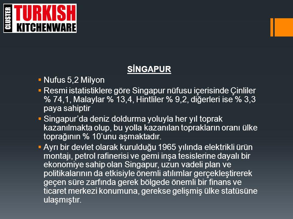  Singapur'un ekonomik olarak çok kısa bir süre içerisinde yapılanarak; dünya çapında önemli bir liman ve serbest ticaret merkezi, dünyanın önemli petro-kimya ve elektronik üreticilerinden birisi, bölgede başarılı bir finans ve bankacılık merkezi, gelişen ticaret koşullarına uyum ve hızlı adaptasyon kabiliyetinin de etkisiyle dünya çapında önemli bir transit ticaret merkezi konumuna ulaşmıştır.