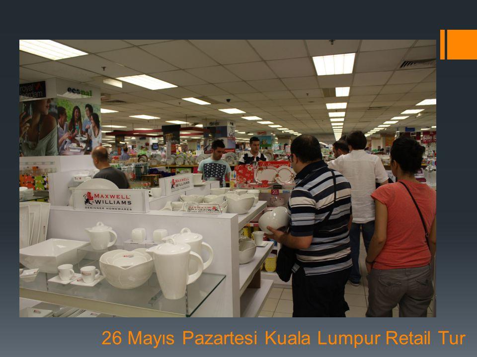 Malezya – Kuala Lumpur Görüşme İstatistikleri:  Heyete Katılan Firma Sayısı:16  Görüşmelere Katılan Yabancı Firma Sayısı:34  Gerçekleşen Görüşme Sayısı:141  Heyet Katılımcı Firma Başına Ortalama Görüşme:9 27 Mayıs Salı Kuala Lumpur B2B