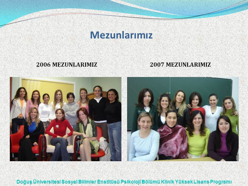 Mezunlarımız 2006 MEZUNLARIMIZ2007 MEZUNLARIMIZ