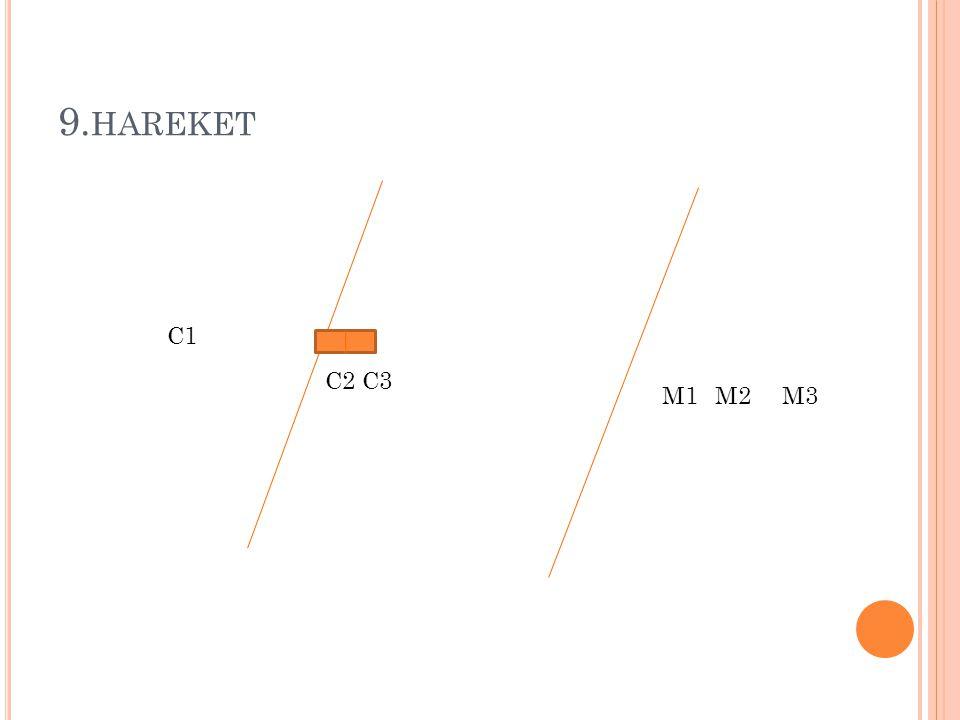 9. HAREKET M1M2M3 C1 C3C2
