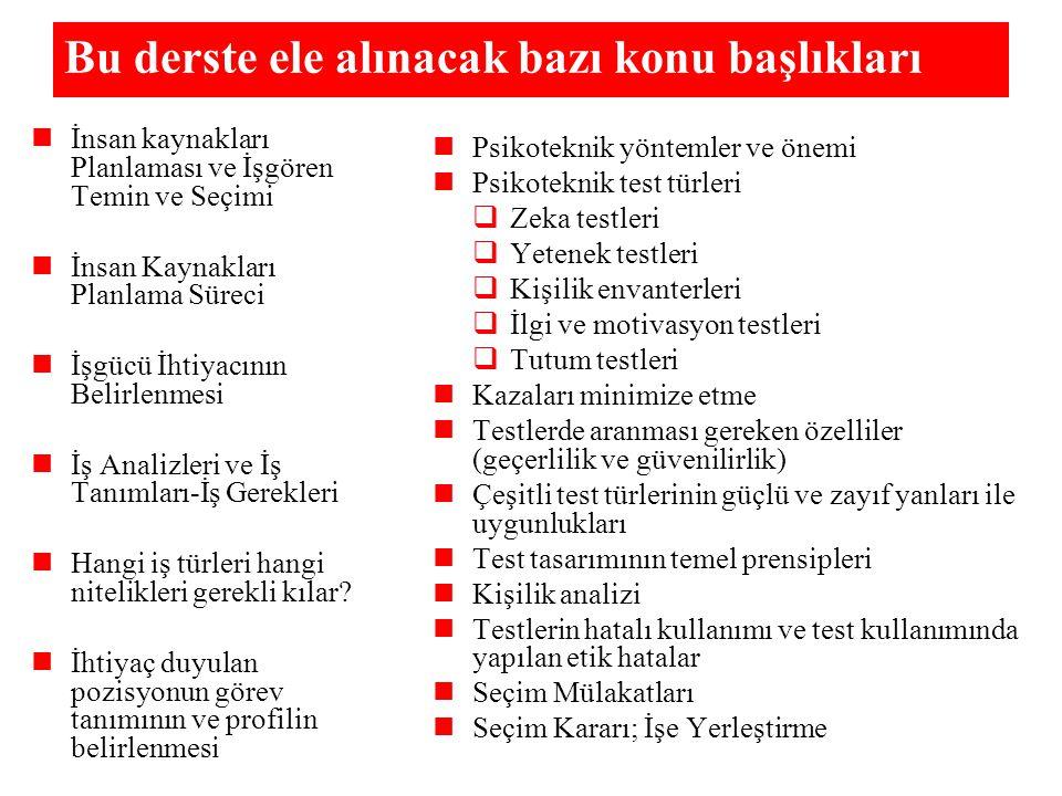 GYTE PSİKOTEKNİK LABORATUVARINDA BULUNAN TEST MATERYALLERİ I.