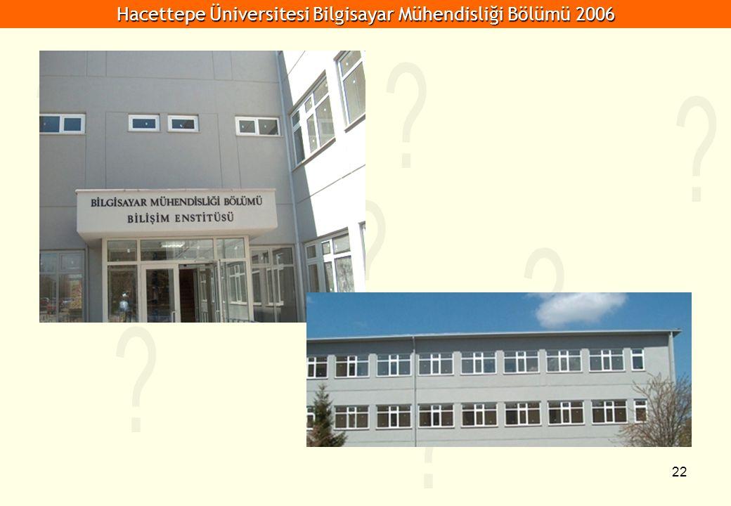 Hacettepe Üniversitesi Bilgisayar Mühendisliği Bölümü 2006 22