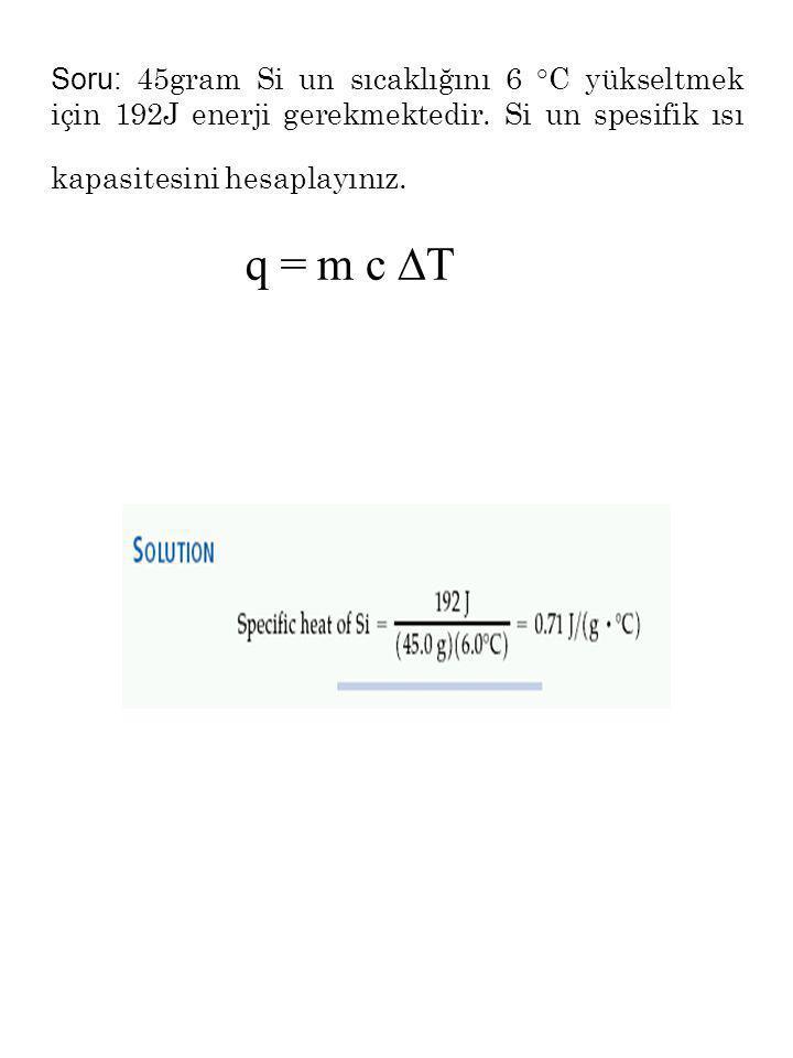 İş: sistemle çevre arasında enerji transferidir. w= P. A. h, (  V = (V son -V ilk ) ) w = - P  V