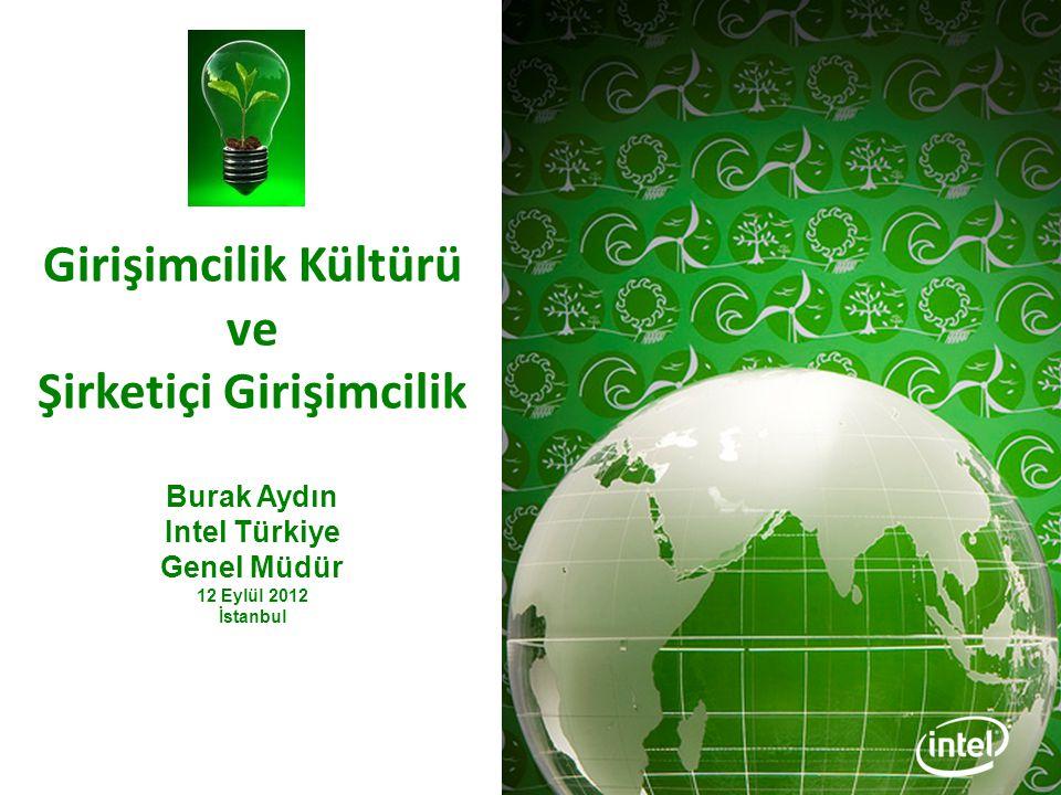 Girişimcilik Kültürü ve Şirketiçi Girişimcilik Burak Aydın Intel Türkiye Genel Müdür 12 Eylül 2012 İstanbul