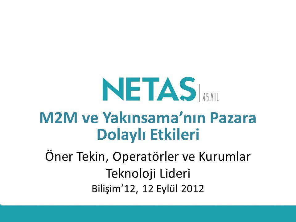 M2M ve Yakınsama'nın Pazara Dolaylı Etkileri Öner Tekin, Operatörler ve Kurumlar Teknoloji Lideri Bilişim'12, 12 Eylül 2012