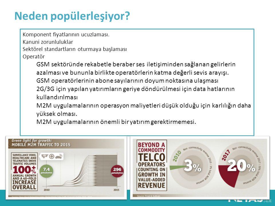 M2M Pazar Beklentileri Ericsson firması tarafından yapılan ve Towards 50 billion connection adıyla yayınlanan bir çalışmaya göre 2025 yılında yarım milyar mekan, 5 milyar insan ve 50 milyar nesne iletişim şebekelerinden birinin kullanıcısı haline gelecek ve birbirleriyle iletişim halinde olacaklardır.