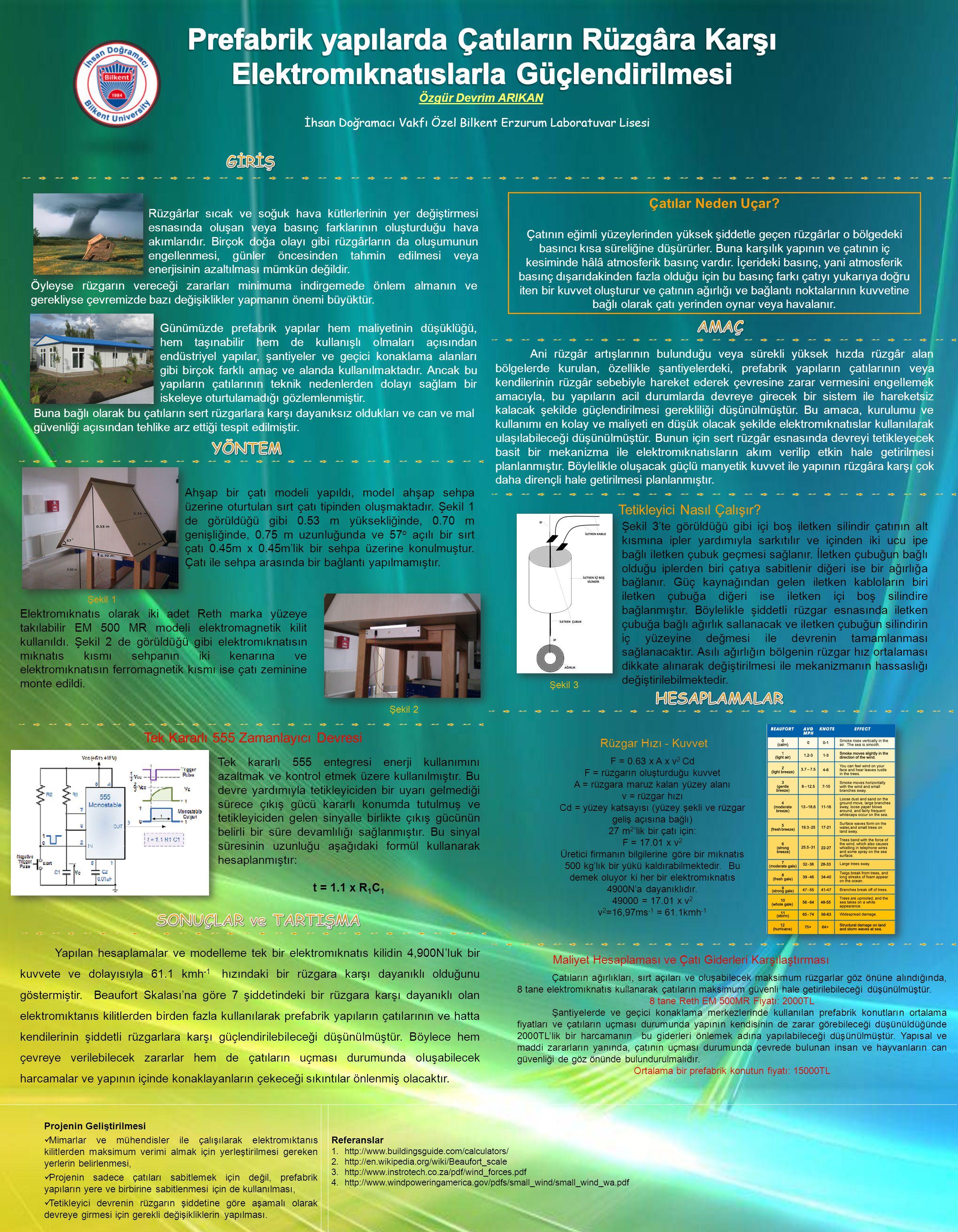 Özgür Devrim ARIKAN İhsan Doğramacı Vakfı Özel Bilkent Erzurum Laboratuvar Lisesi Projenin Geliştirilmesi Mimarlar ve mühendisler ile çalışılarak elek