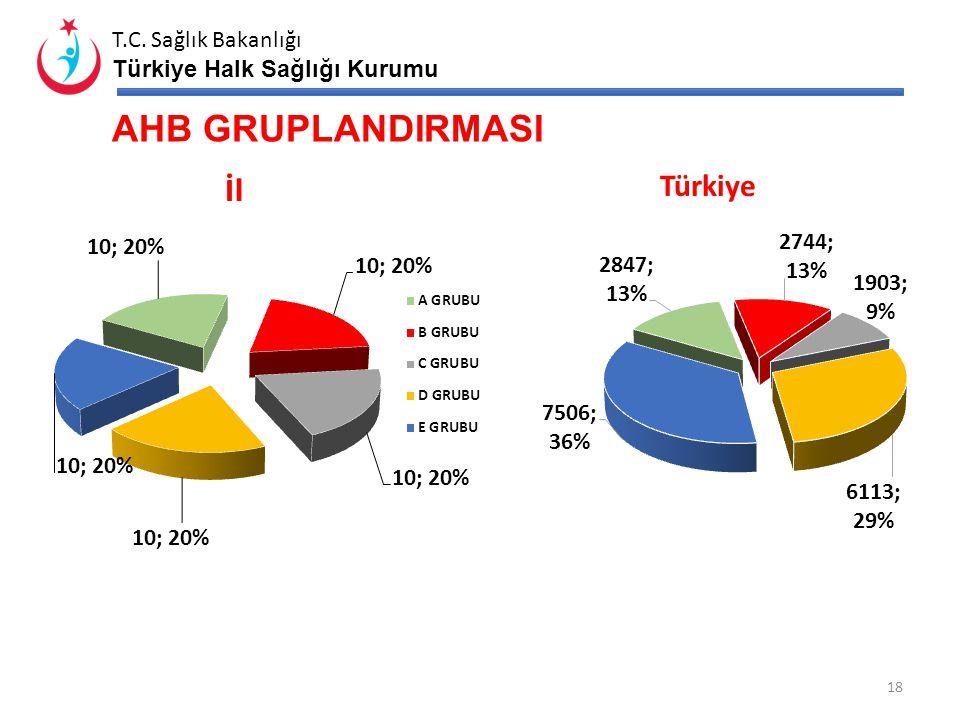 T.C. Sağlık Bakanlığı Türkiye Halk Sağlığı Kurumu TEK BİRİMLİ ASM' LERİN YERLEŞİM YERLERİNE GÖRE DAĞILIMI 17 İlTürkiye