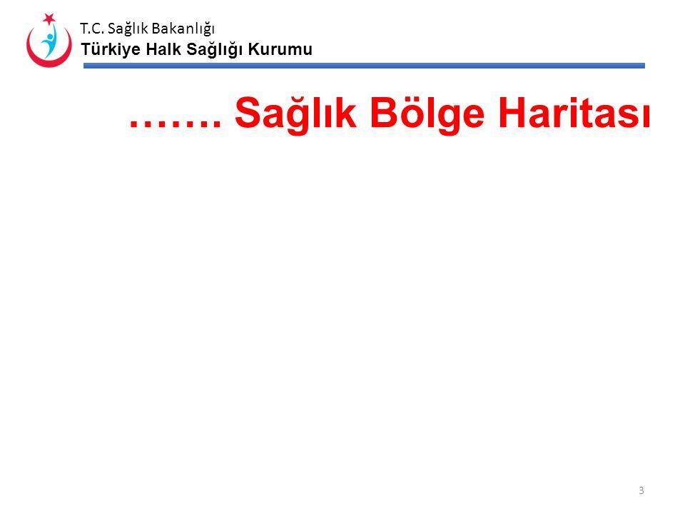 T.C. Sağlık Bakanlığı Türkiye Halk Sağlığı Kurumu İl Haritası 2