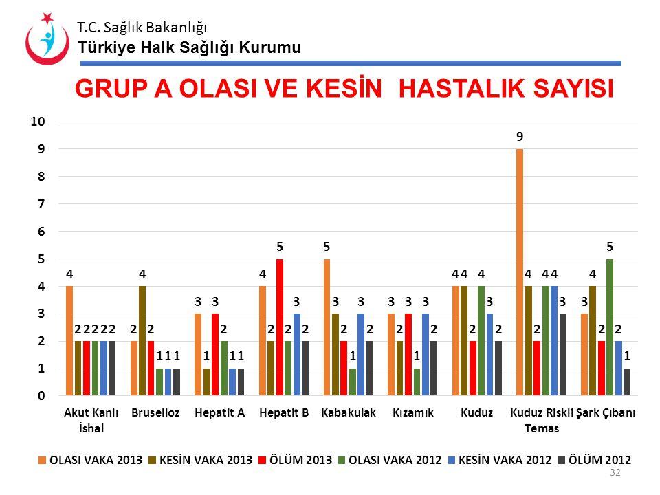 T.C. Sağlık Bakanlığı Türkiye Halk Sağlığı Kurumu SITMA LABORATUAR ÇALIŞMALARI -2013 ilk 9 ay (Yıl İçinde Alınan ve Çalışılan Aktif, Pasif Kan Sayılar