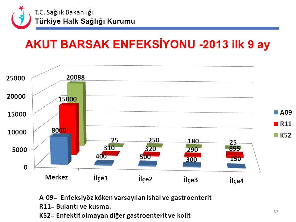 T.C. Sağlık Bakanlığı Türkiye Halk Sağlığı Kurumu GRUP A OLASI VE KESİN HASTALIK SAYISI 32