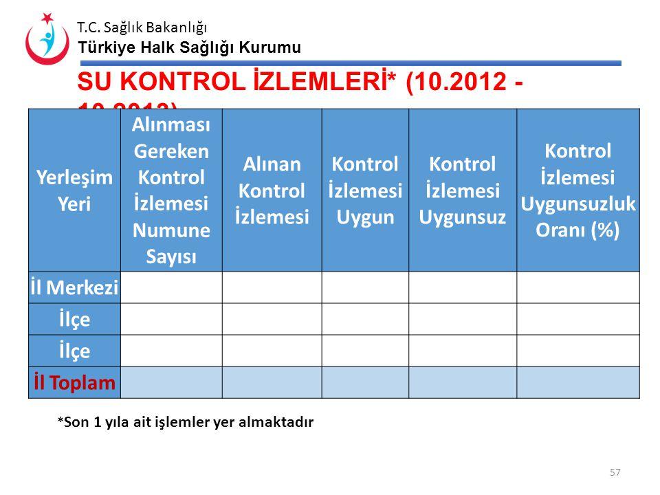 T.C. Sağlık Bakanlığı Türkiye Halk Sağlığı Kurumu İş Güvenliği Uzmanı Olabilecek Nitelikteki Personel Sayısı* Aktif Çalışan İş Güvenliği Uzmanı Sayısı