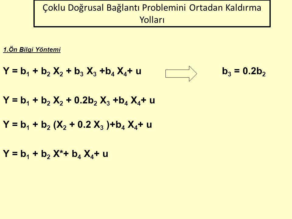 42 Örnek:  Slayt 11 de incelediğimiz model için Theil-m ölçüsünü uygulayalım.  Yardımcı regresyon modellerini oluşturalım.  m sıfıra yakın bir değe