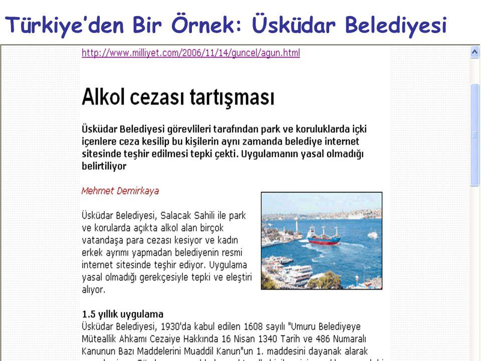 Türkiye'den Bir Örnek: Üsküdar Belediyesi