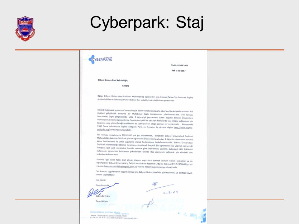 Cyberpark: Staj