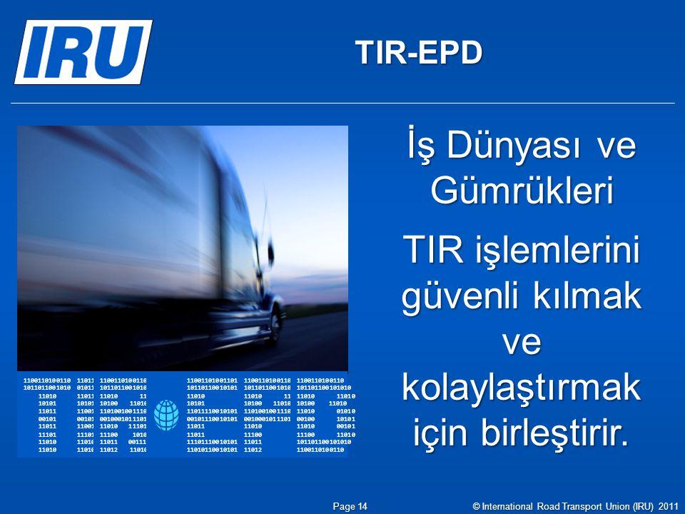 TIR-EPD 1100110100110101 1011011001010101 11010 10101 11011 00101 11011 11101 11010 11011 01011 11011 10101 11001 00101 11001 11101 11010 110011010011