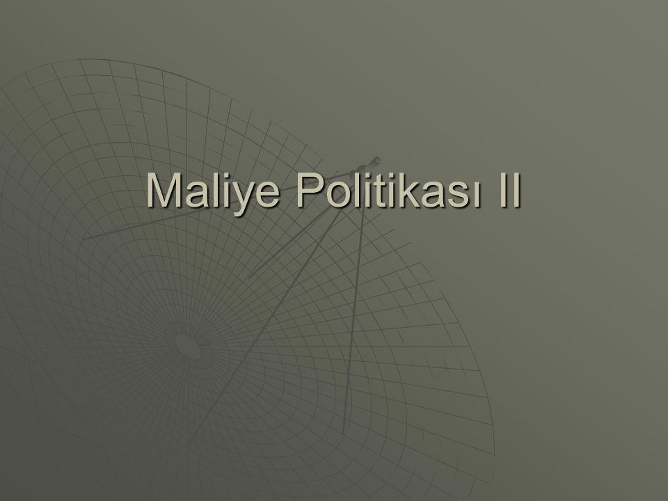 Maliye Politikası II